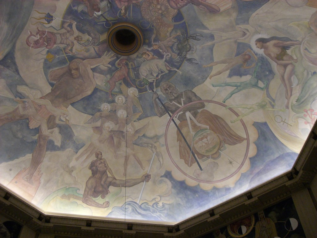 Hugo ballin mural for Constellation ceiling mural