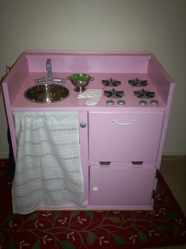 Curbside Cabinet After: Little Pink Kitchen | by Jane Little