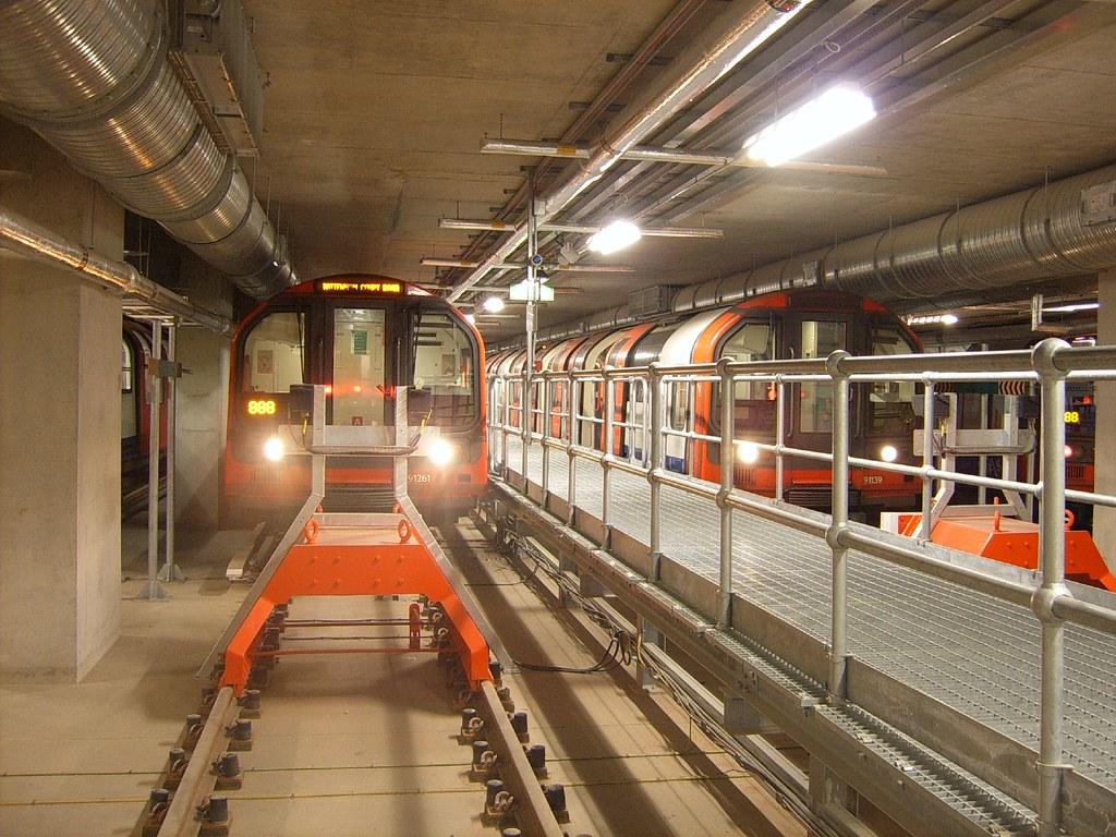 White City Sidings Where The Central Line Trains Sleep