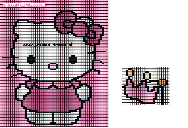 Hello Kitty Chart This Is The Chart I M Using For The