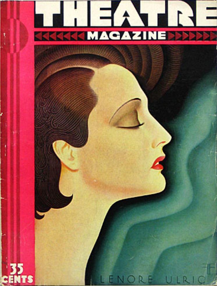 Theatre magazine nov 1930 art deco cover art is lenore u for Magazine deco