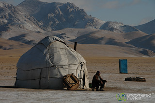 Kyrgyz Man Drinks Tea Outside Yurt - Song Kul Lake, Kyrgyzstan | by uncorneredmarket