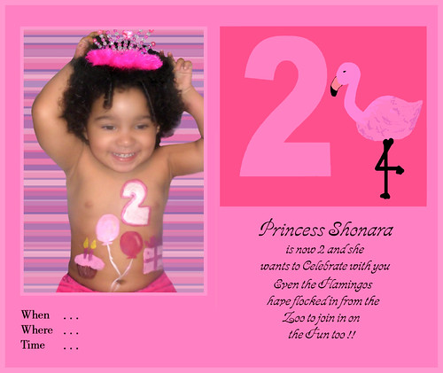 Shonara's 2nd Birthday Invitation