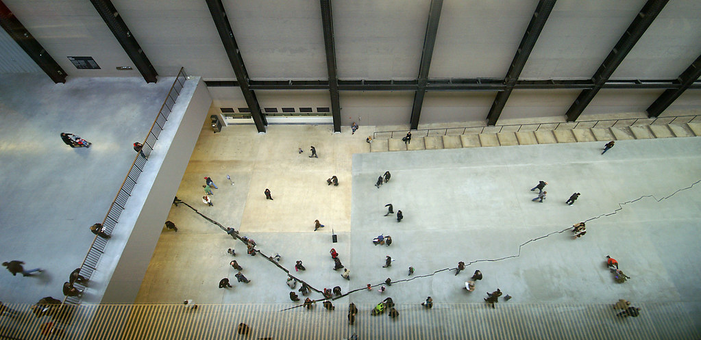 Tate Modern The Crack In The Floor This Is A View From
