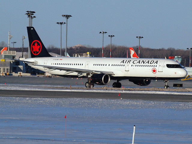 Air Canada A321 C-GJWO new colours taxiing at YUL