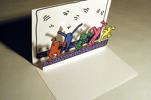 Pop Up Pop Art Cards Gift Card Concept For School