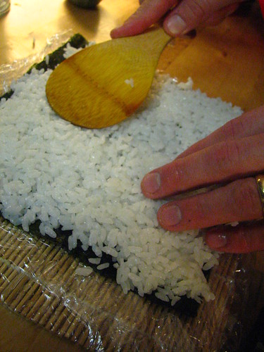 Putting on the Sushi Rice | by SeppySills
