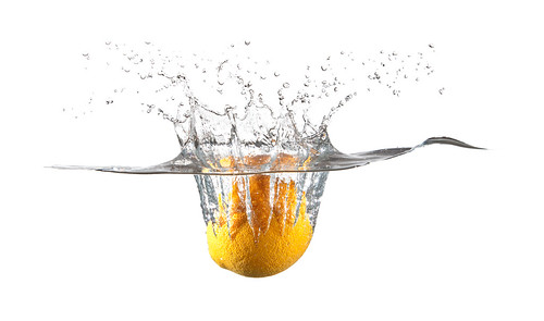 Lemon splashing in water | by Louish Pixel