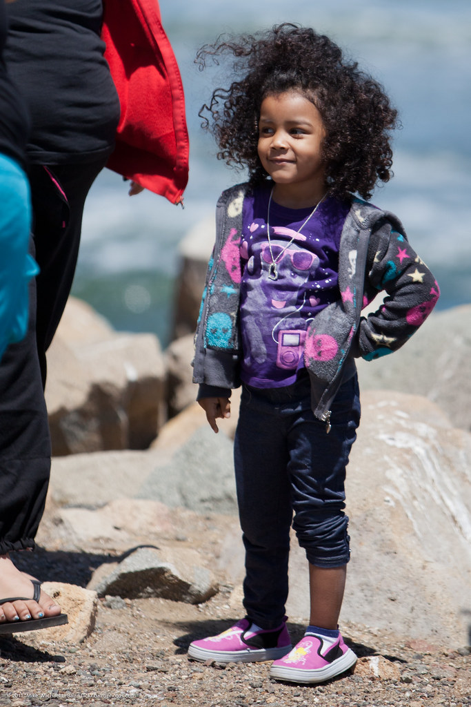 Cute Little African American Hispanic Girl With Curly Hair Flickr