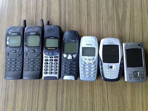 Mobile phones through the ages some of the phones i 39 ve own flickr - What to do with used cell phones five practical solutions ...