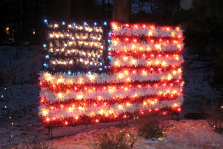 NYC - Bronx - Bronx Zoo - 2007 Holiday Lights - American Flag | by wallyg