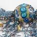 Blue Sea Necklace - closeup
