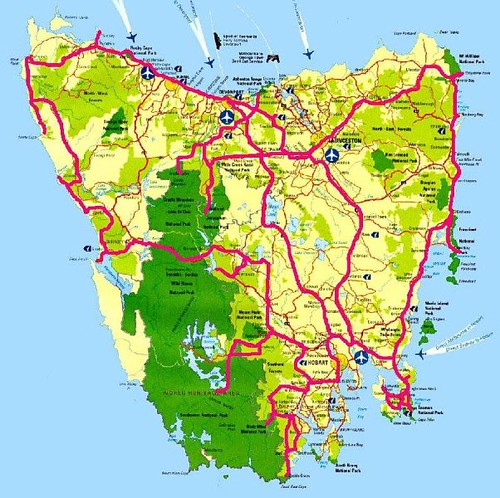 Map And Route Tasmania Map And Route We Did The Lot
