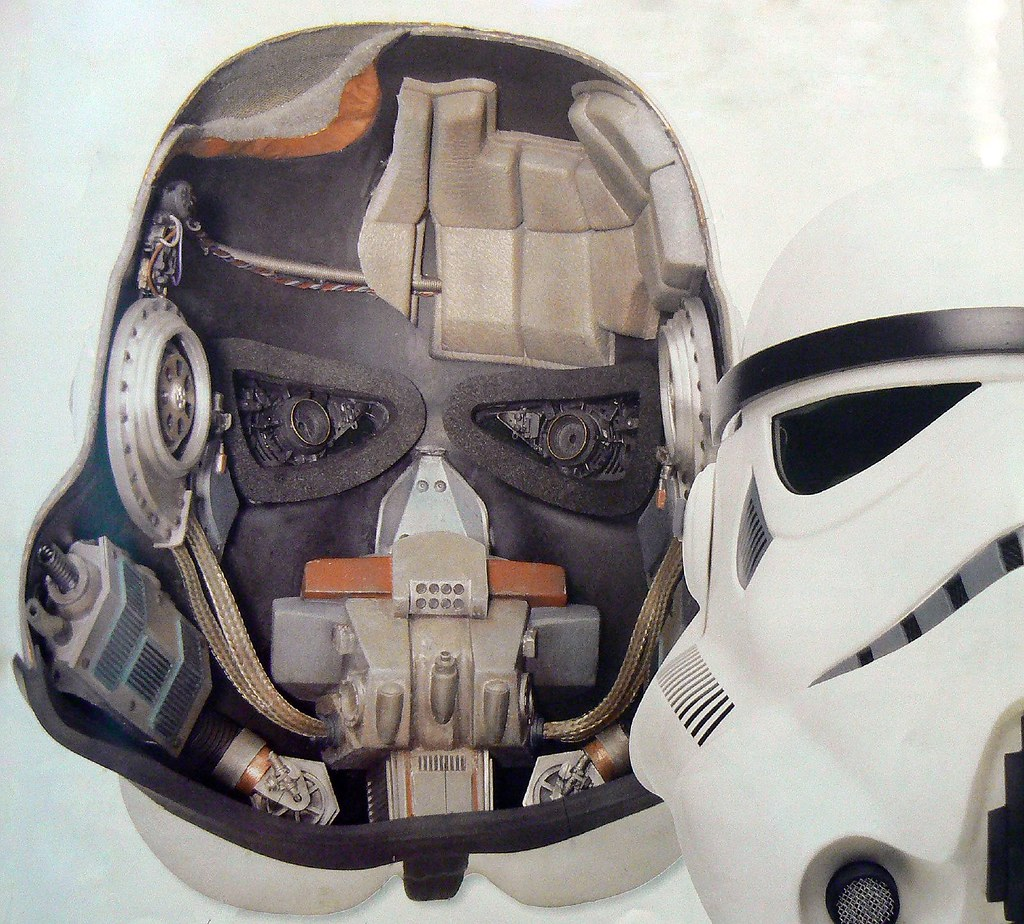 Inside A Stormtrooper Helmet This Particular Model Is