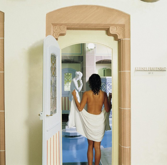 baden mit oder ohne badebekleidung im palais thermal hab. Black Bedroom Furniture Sets. Home Design Ideas