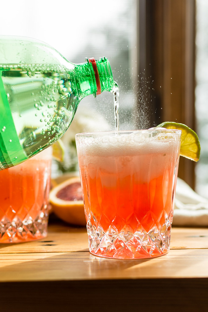 Blood Orange Paloma Spritzer