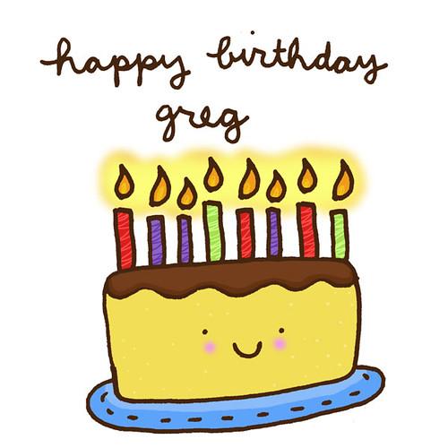 Happy Birthday Greg Cake