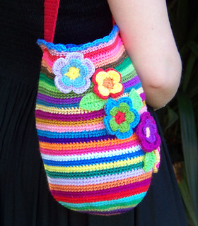 Multicoloured Crocheted Bag | by colourmad1
