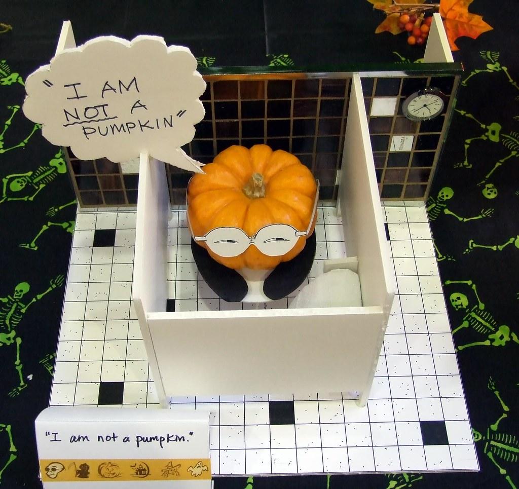 pumpkin carving contest minneapolis airport bathroom flickr rh flickr com