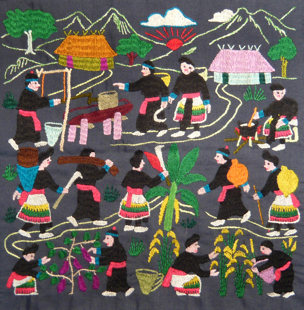 Hmong Embroidered Story Cloth | I bought this story cloth ...