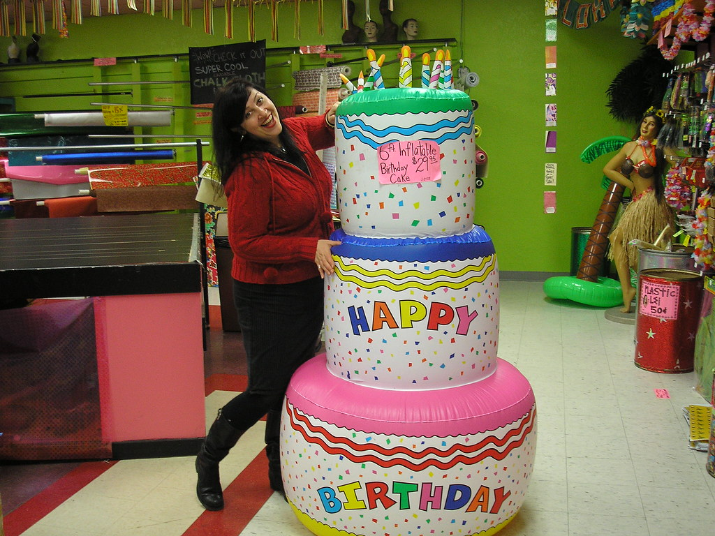 Giant Birthday Cake Drawing