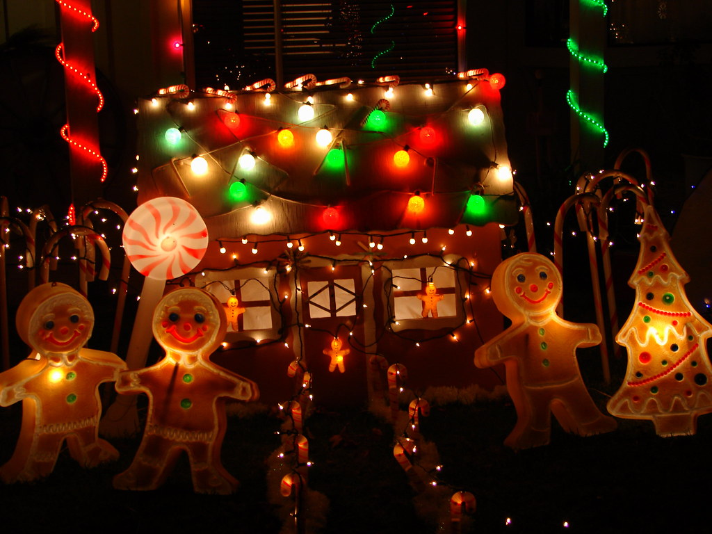 christmas lights gingerbread men by pc my shotsphotography