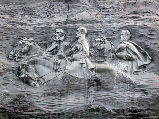 Confederate memorial carving stone mountain ga eric