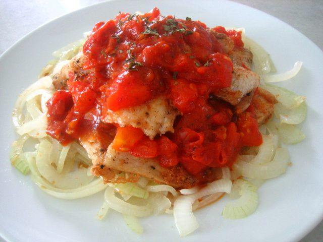 Fish fillets with italian herb sauce preparation directi for Italian fish sauce
