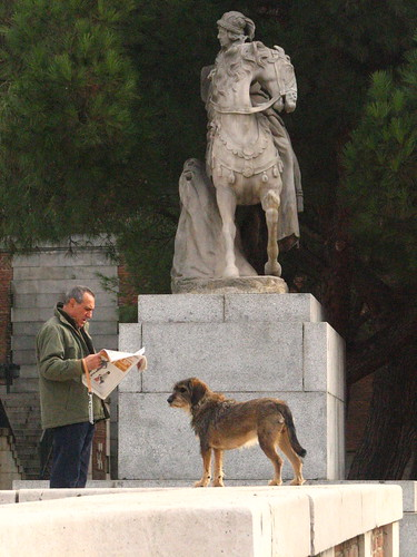 Madrileno and Perro in the Gardens of Palacio Real, Madrid | by SeppySills