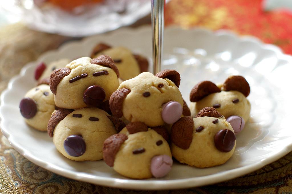 Cookies Shaped Like Dogs