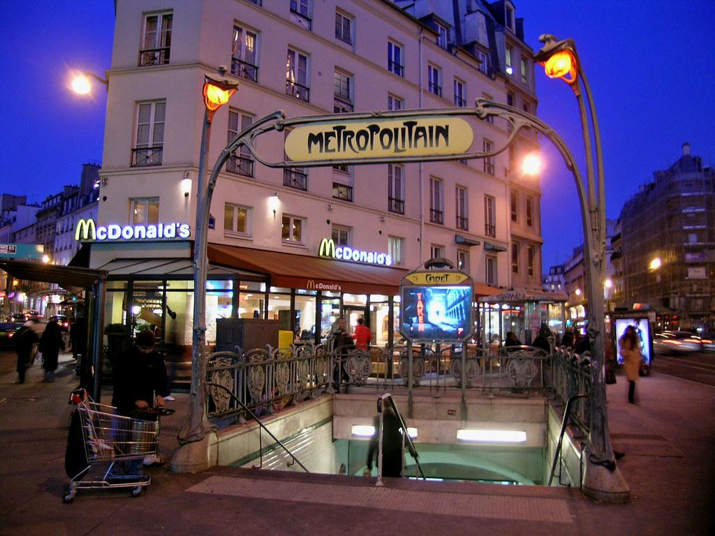 McDonald's Cadet - Paris (France) | A marriage between RATP … | Flickr
