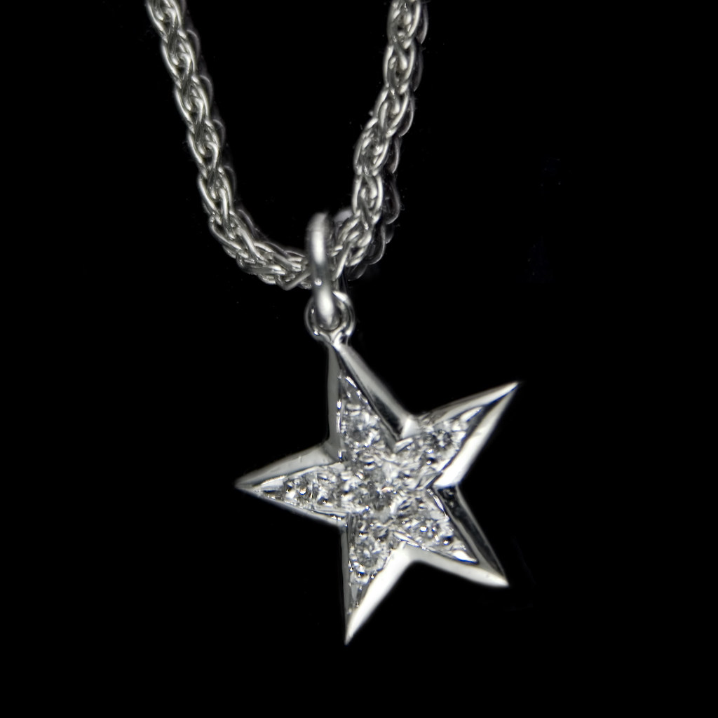 Diamond star white gold star pendant with pave set diamond flickr diamond star by rmrayner diamond star by rmrayner aloadofball