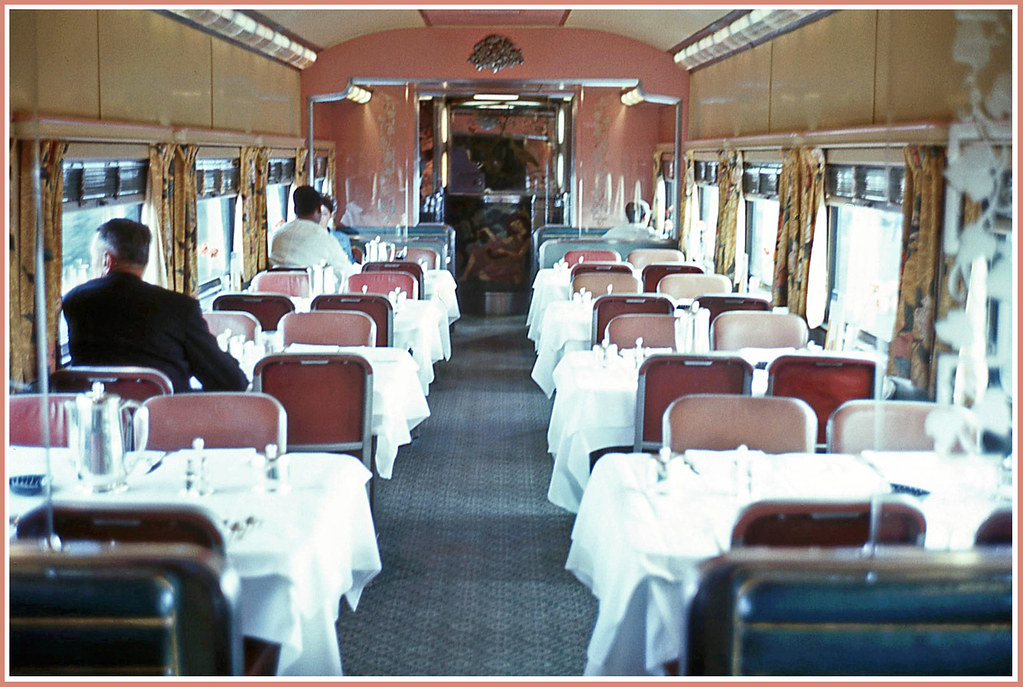 dining on the california zephyr 1968 the colors clash a flickr. Black Bedroom Furniture Sets. Home Design Ideas