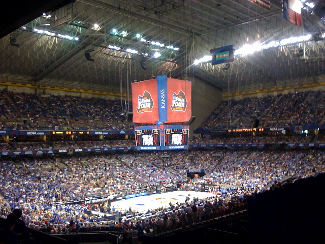 At the Alamodome for the Men's Final Four game | Go Bruins ...