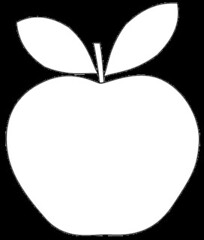 apple shape clipart to colour 12cm by you get the picture - Shape Pictures To Colour