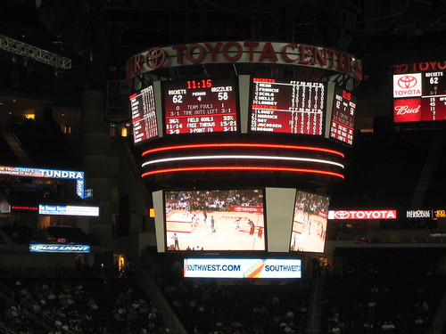 Rockets scoreboard at the Toyota Center | by StartAgain