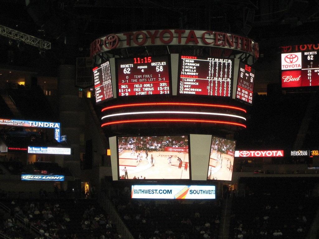 All sizes rockets scoreboard at the toyota center flickr photo sharing