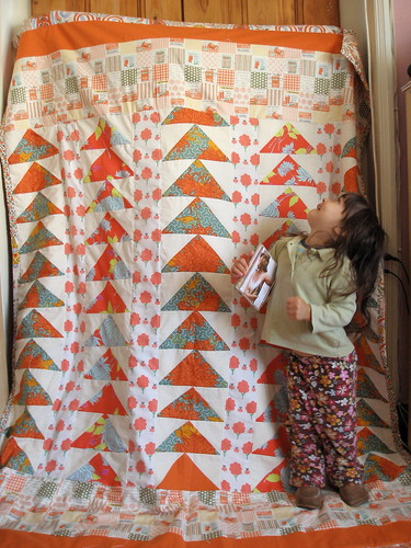 "orange flying geese quilt | by ""Gayatri"""