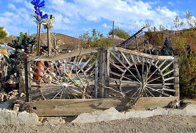 ... Wagon Wheel Garden Gate | By Kimberley Renee