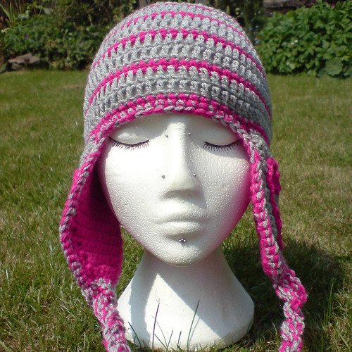 Heart Earflap Hat | by tsukismama