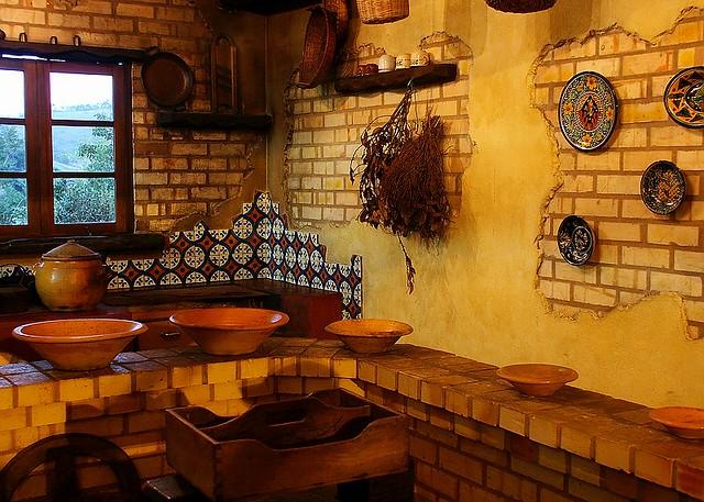 Old Colonial Kitchen Santa Catarina Brasil An Old