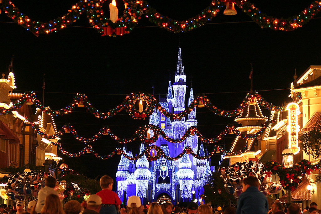 Main Street With Christmas Decorations