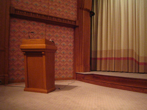 Podium in the screening room | by rick