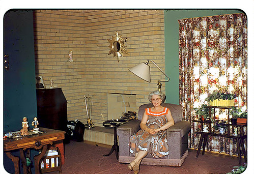 Gladys of Sioux City in her Front Room - June, 1956 | by vieilles_annonces