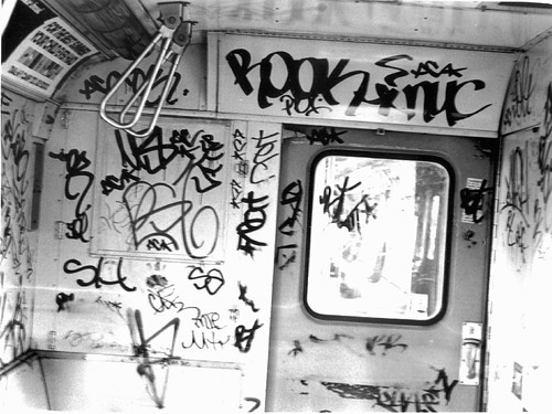 Graffiti Subway 1978 NYC Subway MTA B Train on The El  50th - 55th St Brooklyn | by Whiskeygonebad