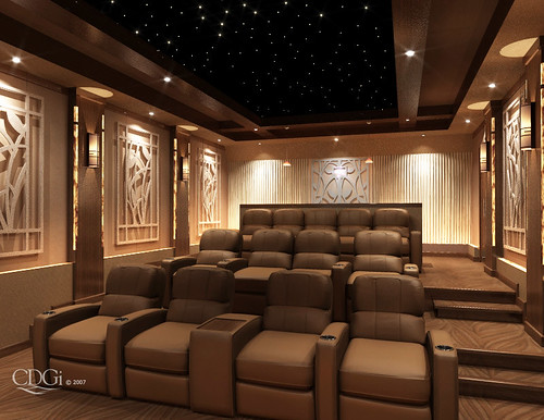 Prominence theater design home theater interior design c flickr Home theatre room design ideas in india