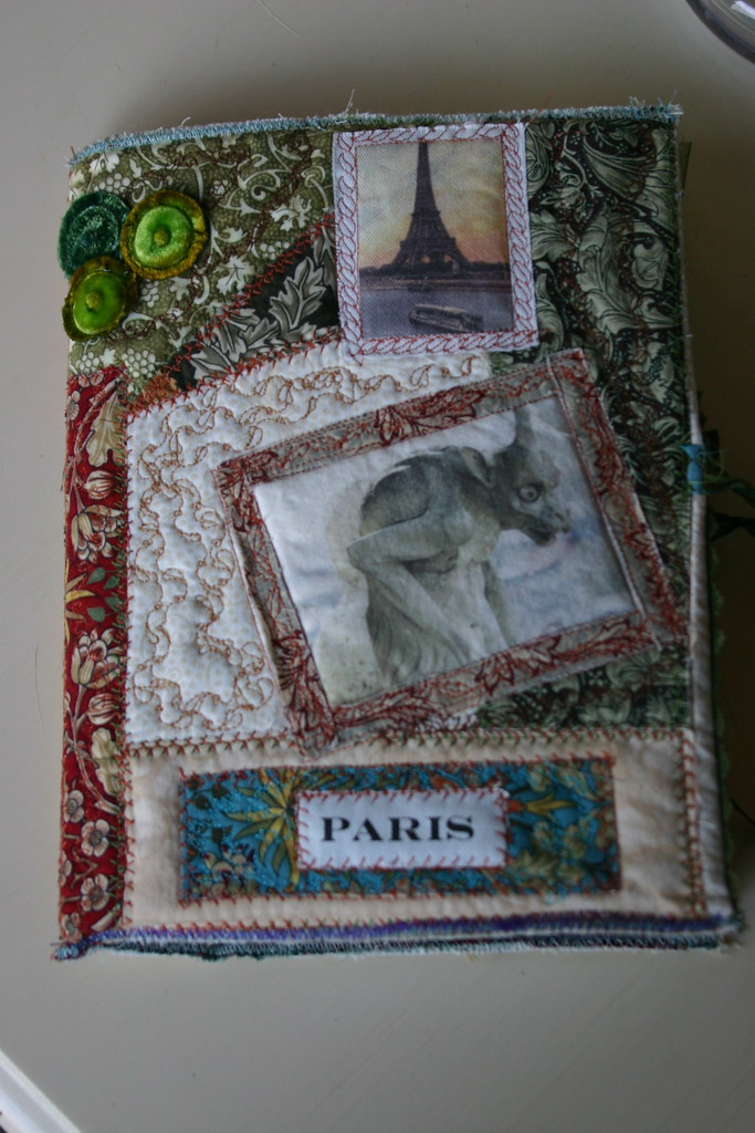 Book Cover Material Yield : Fabric journal cover an embellished book