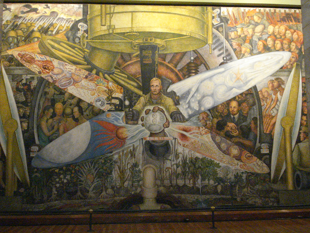 Palacio de bellas artes 39 man controller of the universe for Diego rivera mural at rockefeller center