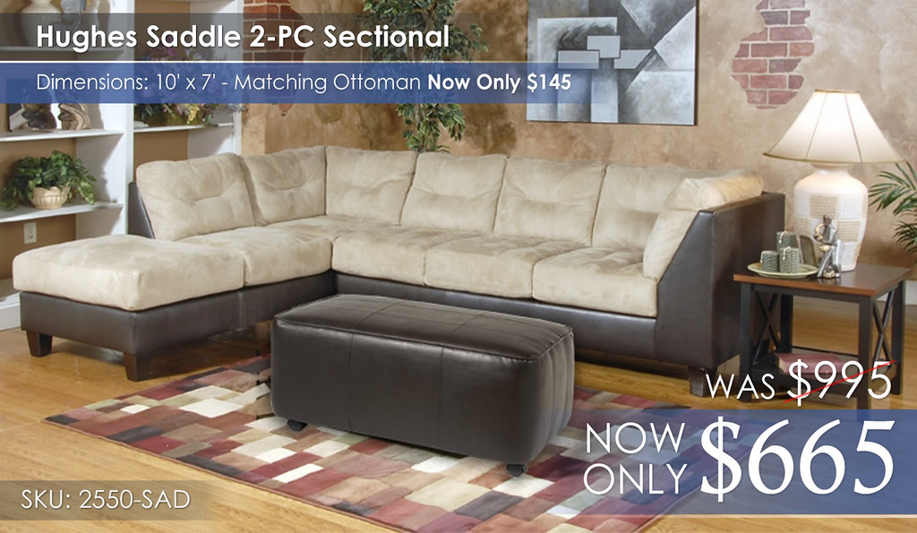 Hughes Saddle Sectional 2550-SAD