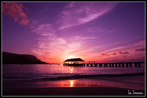 Sunset At Hanalei Pier | by joe.simonsen